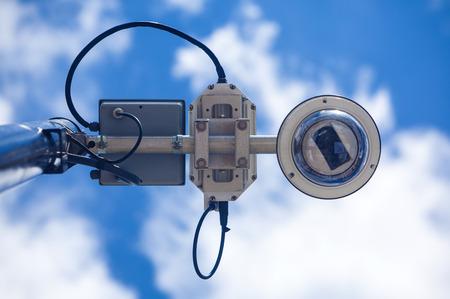 motion sensor: Security camera from below