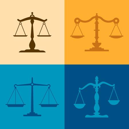 balanza justicia: Ilustraciones escala Justicia con espacio para su copia.