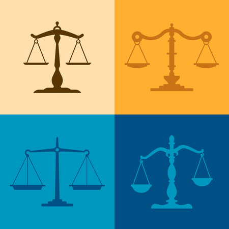 Justice scale illustrations with space for your copy.