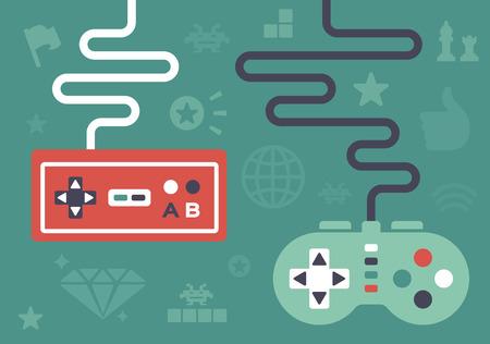 joypad: Controladores de juego y los iconos y elementos de juego de s�mbolos.