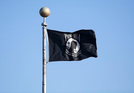 prisoner of war: Prisioner of War Missing in Action POW MIA black flag.
