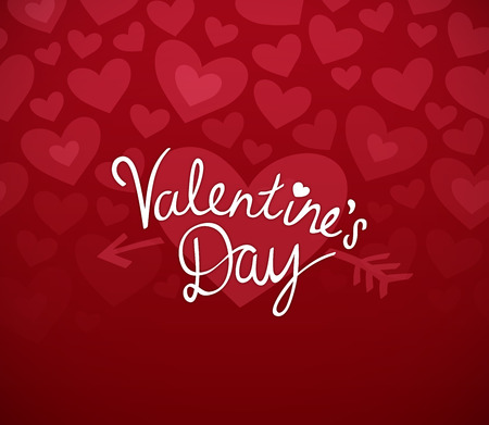 red floral: Valentines day heart background with valentines day message.