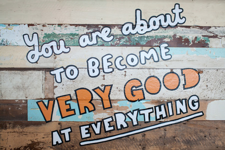 You are about to become very good at everything message. Stok Fotoğraf
