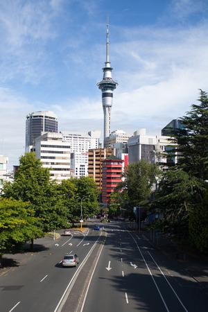 A view of downtown Auckland, New Zealand. Banco de Imagens