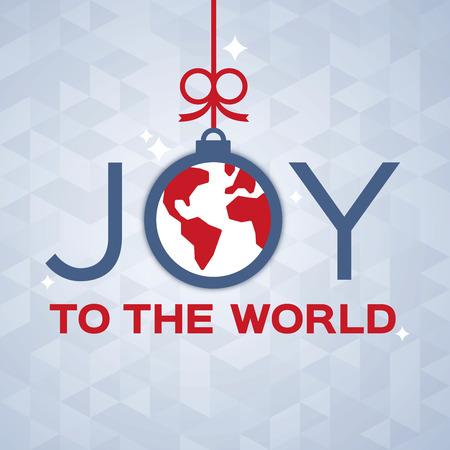 Joy to the world decorative holiday ornament concept. Illusztráció