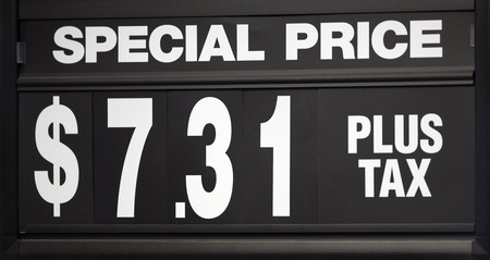 special price: Special price sign with changable numbers. Stock Photo
