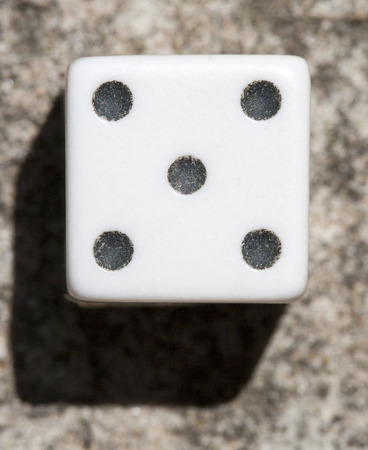 Dice up close macro view.