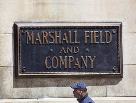 CHICAGO/USA - June 1, 2017: Marshall Field and Company Building or Macy's at State Street, in Chicago, Illinois, built in 1891-1892, was the flagship location of the Marshall Field and Company, also known as Marshall Field's chain of department stores and