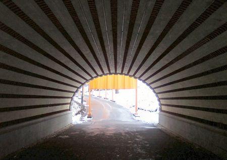 La lueur dans le bout du tunnel  Banque d'images