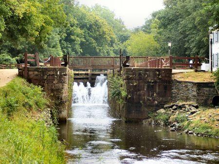 Great Falls sur la rivi�re Potomac Banque d'images