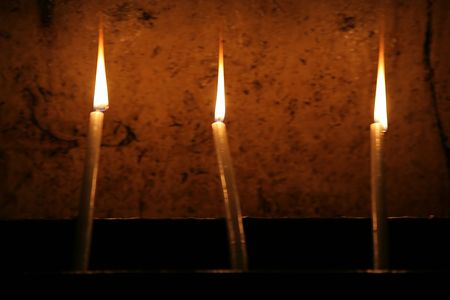 church of the holy sepulchre: Candles in the Church of the Holy Sepulchre, Jerusalem