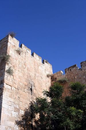 The Walls of the Old City in Jerusalem photo