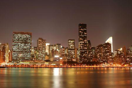 � Manhattan Night Lights Banque d'images