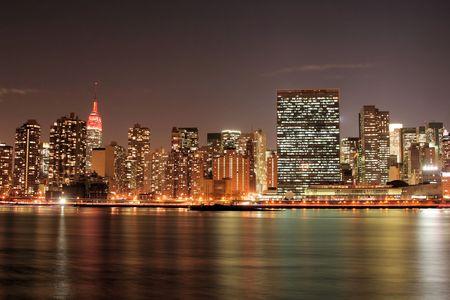 Manhattan skyline at Twilight Lights