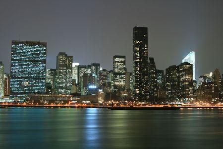 Midtown Manhattan skyline at Night Lights photo