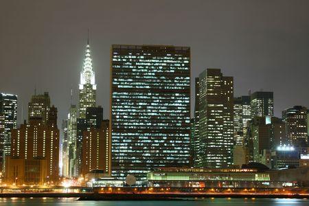 Midtown Manhattan skyline at Night Lights