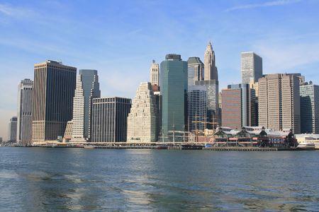 seaports: Photo of Lower Manhattan skyline, New York City