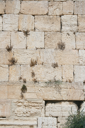 De Klaagmuur (westelijke wand), Jeruzalem, Israël Stockfoto - 1577294