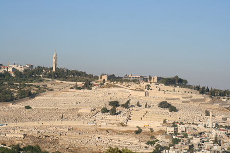 View of The Mount of Olives from the Old City,Jerusalem, Israel. Фото со стока - 1577287