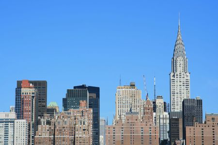 Midtown Manhattan skyline on a Clear Blue day, New York City photo