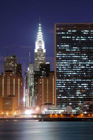 Midtown Manhattan skyline at Night Lights, NYC Stock fotó