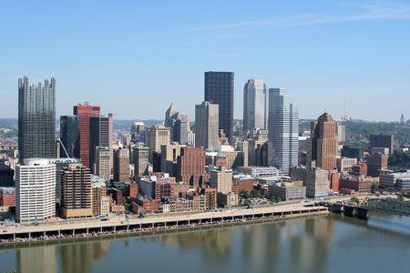 Pittsburgh's skyline from Mount Washington Stock Photo - 2319355