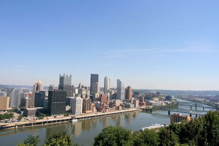 Pittsburgh's skyline from Mount Washington Stock Photo - 2319351