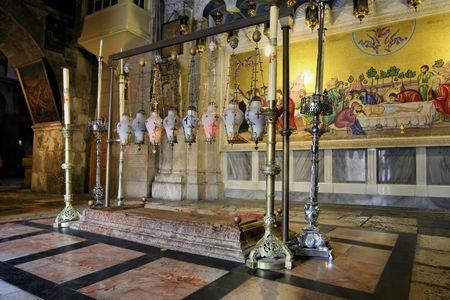 church of the holy sepulchre: The Church of the Holy Sepulchre, Jerusalem Stock Photo