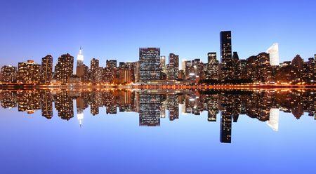 Midtown Manhattan skyline at Night Lights, New York City Stock Photo - 2635304