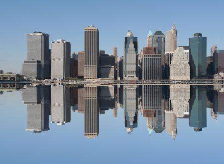 Manhattan skyline on a Clear Blue day photo