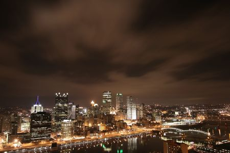 Pittsburgh's skyline from Mount Washington at night Stock Photo - 3660785