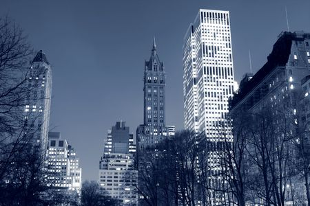 central park: Central Park and manhattan skyline at night, New York City LANG_EVOIMAGES