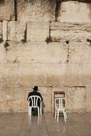 Man at the Western Wall, Israel Stock Photo - 4679639