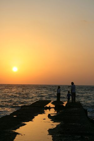 The End of the Day- Sunset over the Sea Stock Photo - 4679635