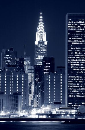Midtown Manhattan skyline at Nights Stock Photo - 4900595