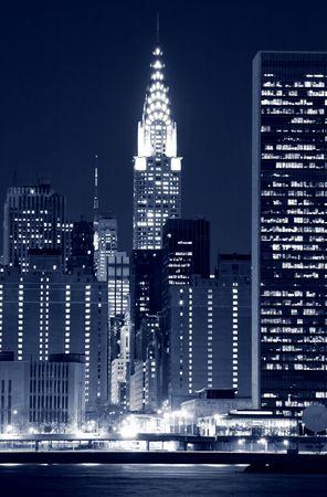 city park skyline: Midtown Manhattan skyline at Nights