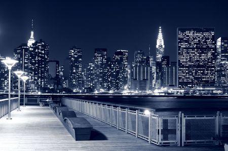 low light: Midtown Manhattan skyline at Nights