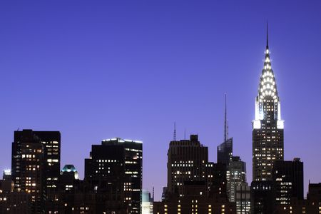 Midtown Manhattan skyline at Night Lights, NYC Stock Photo - 5501503