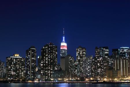 Midtown Manhattan skyline at Night Lights, NYC  Stock Photo - 5926313