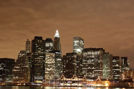 Manhattan Skyline At Night, New York City  Stock Photo - 6270710