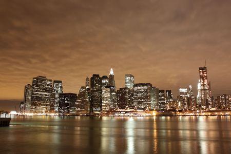 Manhattan Skyline At Night, New York City Stock Photo - 6270708
