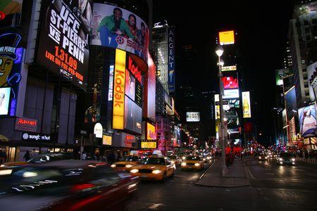 Times Square at Night, New York City-Junuary 12, 2009 Stock Photo - 6886197