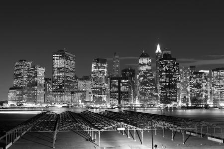 Manhattan Skyline At Night, New York City Stock Photo - 6609503