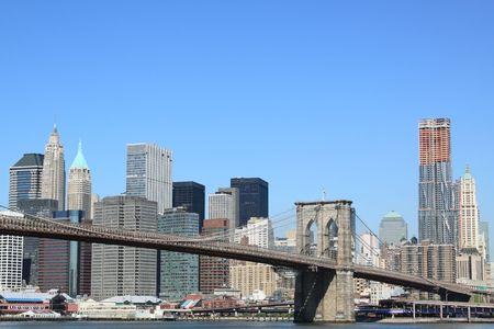 Brooklyn Bridge and Manhattan Skyline, New York City Stock Photo - 7086523