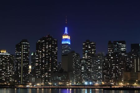 New York City skyline at Night Lights, Midtown Manhattan Stock Photo - 7086549