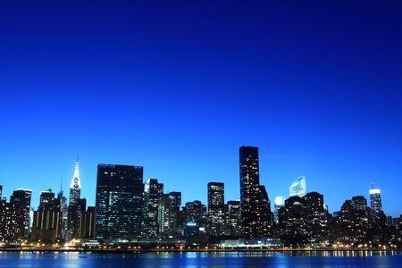New York City skyline at Night Lights, Midtown Manhattan Stock Photo - 7086550