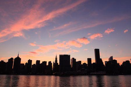Midtown Manhattan horizon � Night Lights, NYC
