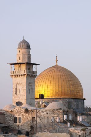 The Dome of the Rock at Sunset, Jerusalem, Israel Stock Photo - 8052759