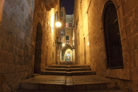 jewish home: Ancient Alley in the Jewish Quarter, Jerusalem, Israel LANG_EVOIMAGES