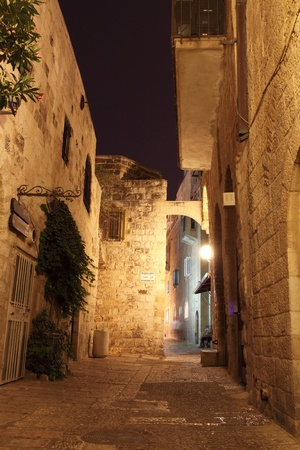 jewish: Ancient Alley in Jewish Quarter, Jerusalem